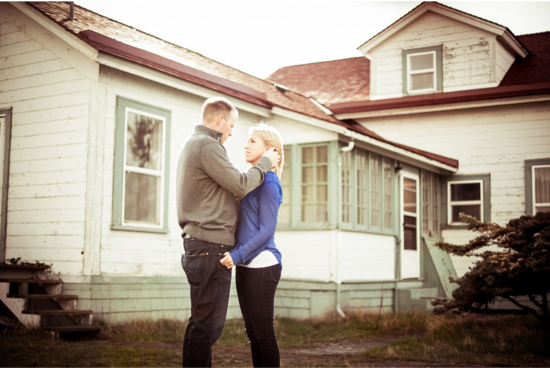 Clinton James Photography Engagement Session at Seattle Discovery Park with lighthouse beach historic buildings (10)