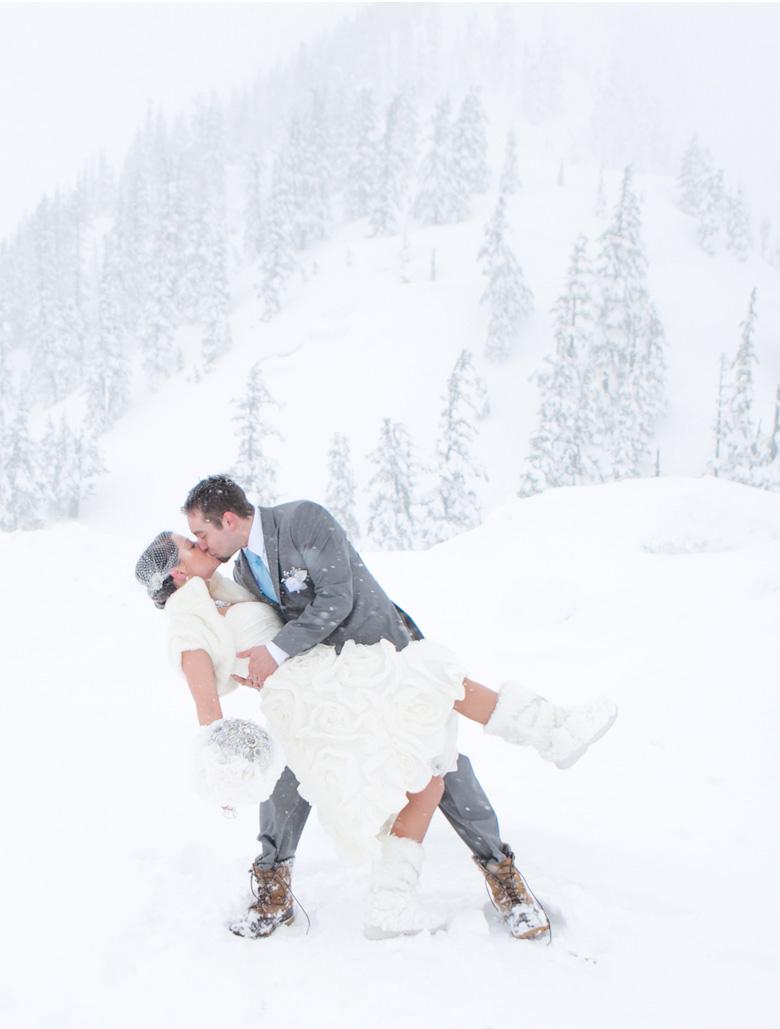 Laura Carl Mt Baker Wedding Photography Bellingham Snow Winter Clinton James 0016