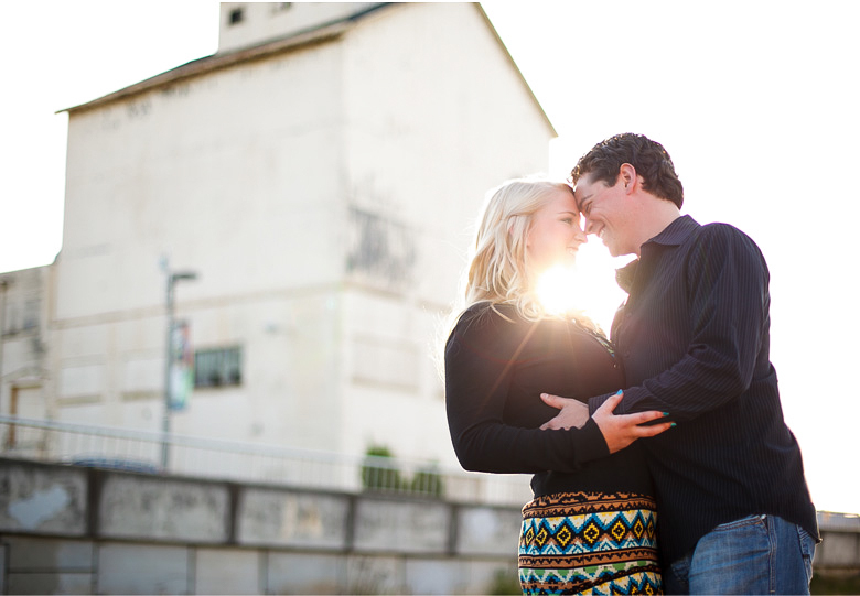 romantic engagement pictures in downtown bellingham