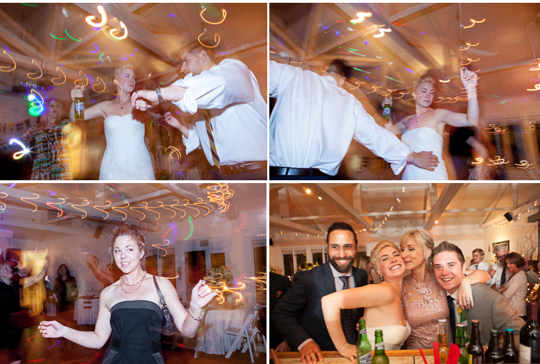 winter wedding reception photo in san juan islands