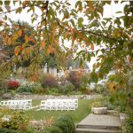fall and winter wedding outdoor ceremony picture at roche harbor