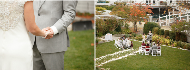 wedding ceremony outside at roche harbor picture