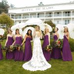 hotel del haro picture photo with parasol umbrella at roche harbor wedding