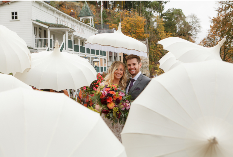 parasol wedding photo roche harbor hotel del haro