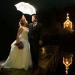 night wedding photography roche harbor winter chapel san juan island
