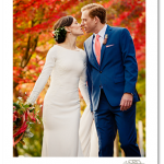autumn wedding picture photo at roche harbor, a pnw wedding destination in the san juan islands bride and groom portrait with fall colors