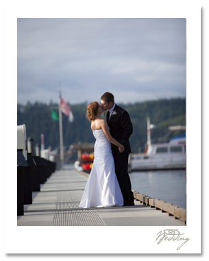 "Erica and Robert held their ceremony at the Alderbrook Spa on the Hood Canal.  As one waiter told us, ""Don't even try, you'll never run out of things to take pictures of here"".  The bride was as gorgeous as the location and the weather was fabulous."
