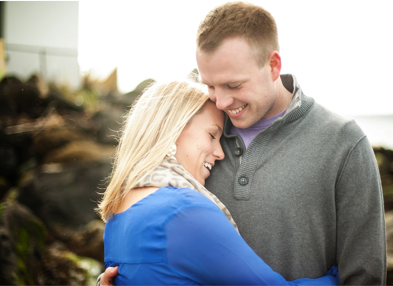Clinton James Photography Engagement Session at Seattle Discovery Park with lighthouse beach historic buildings (4)