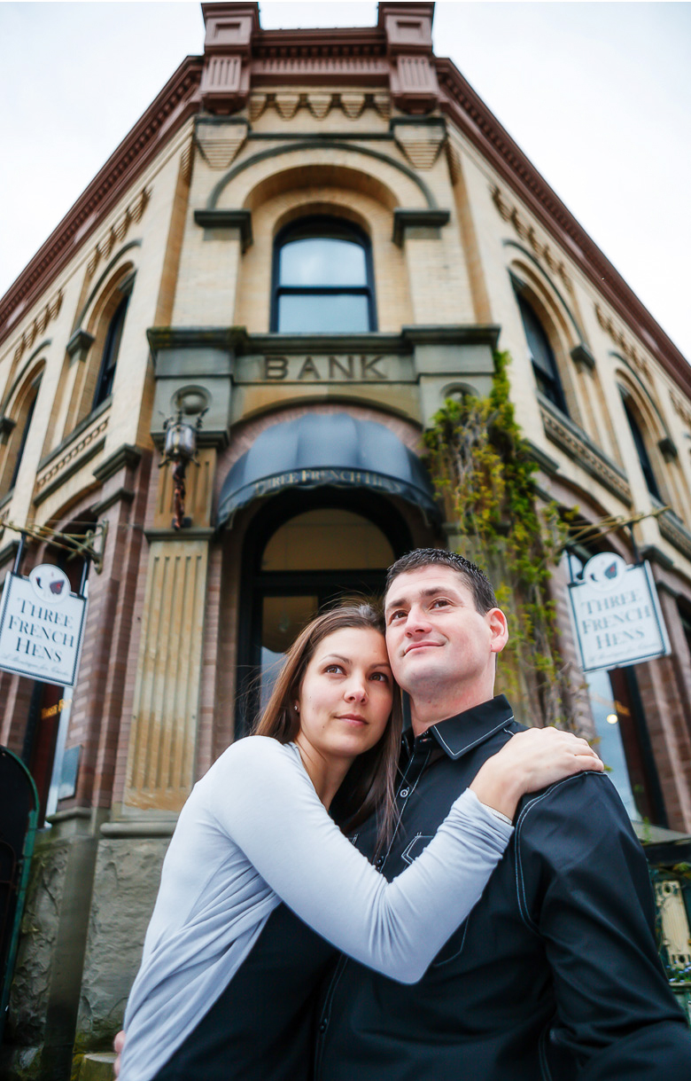 fun artsy engagement session picture in Fairhaven bellingham washington with clinton james photography, wedding photographer