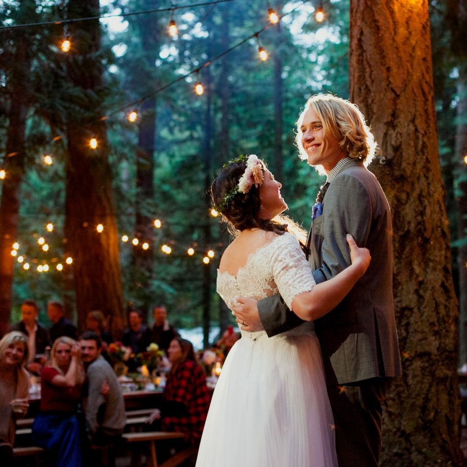 wedding-first-dance-wooded-globe-lights-forrest