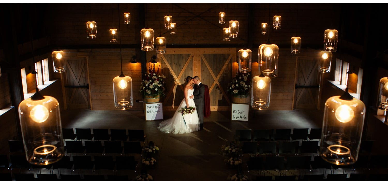 marionfield farm wedding photo skagit venue barn wedding candle light ceremony