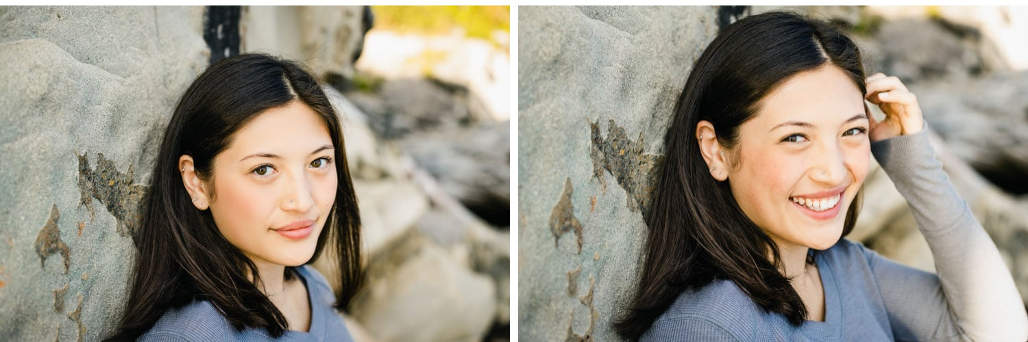 bellingham seattle senior pictures photographer on the beach in pnw at sunset