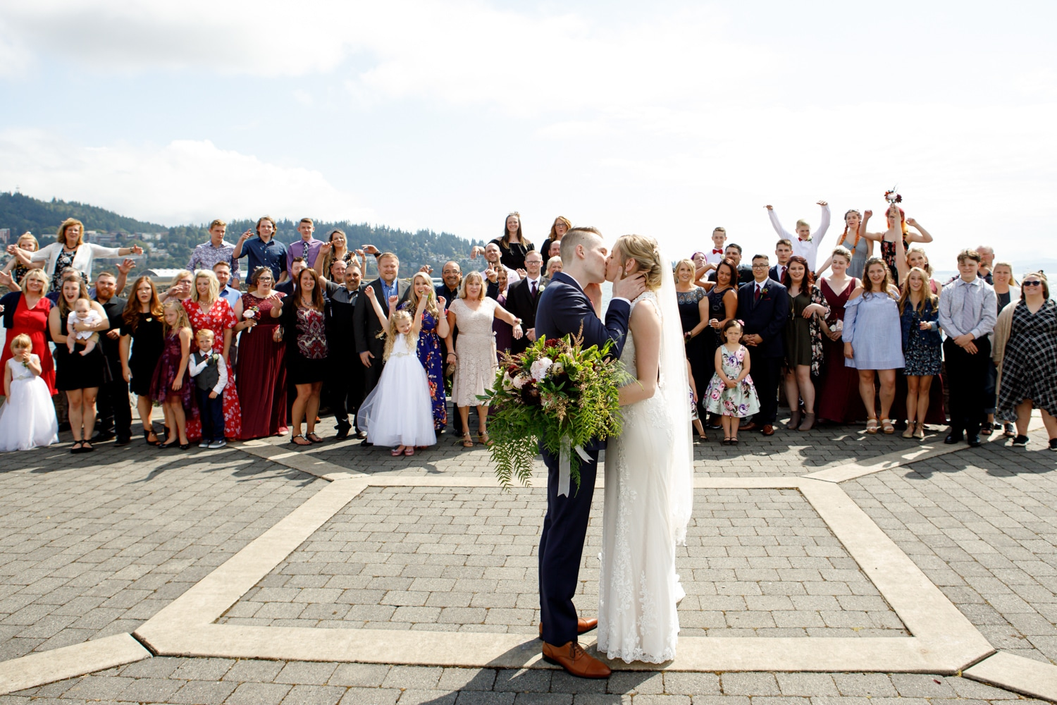 wedding couple photo in bellingham venue bellwether